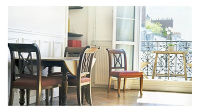 Photo for Beautiful Haussmann apartment - Champs de Mars / 19th Century flat - Eiffel Tower