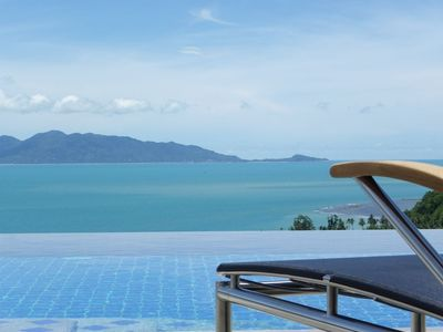 Photo for Luxury-Villa with privat 50sqm pool. Dreamlike sea view (new ad)