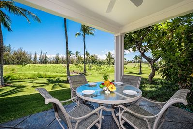Outside Lanai - Beautiful Fairway View of the Kings Course from the H3 Lanai.