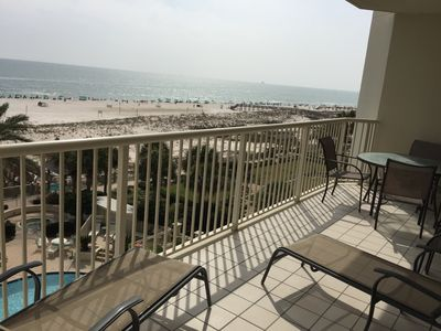 Photo for Right on the beach! Excellent view, updated paint/decor/appliances! 2bd 2.5 bath