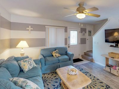 Photo for NEW LISTING! Dog-friendly condo with shared pool, tennis, and peaceful location!