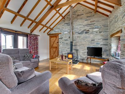Photo for This converted barn is offers panoramic views out across the glorious West Wales countryside and up