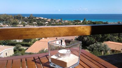 Photo for Exciting sea view apartment in Costa Rei at 5 min. walk to the beach