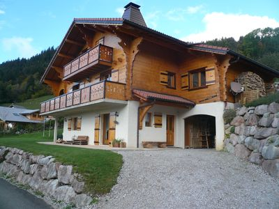 Photo for Apartment for 6 people on the ground floor of a cottage - Bernex Dent d'Oche