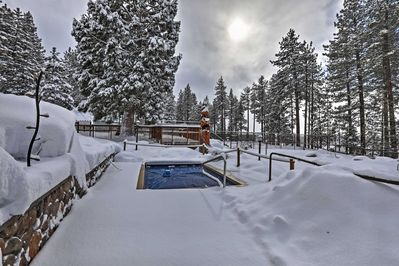 After a snowy day, enjoy a steamy soak in the community hot tub.