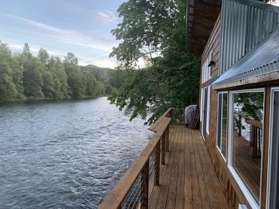 Photo for Restored, rustic, modern cabin ON THE RIVER!