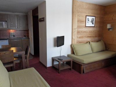 Photo for Surface area : about 27 m². 5th floor. Orientation : South-West. Living room with pull-out bed
