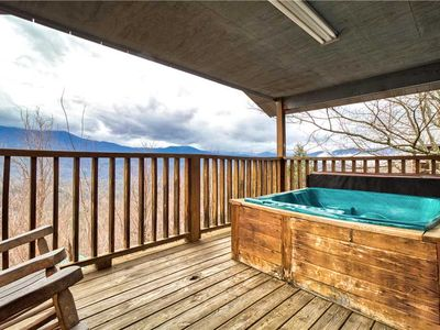 Photo for LeConte View 1, 1 Bedroom, Fireplace, Hot Tub, Grill, Pool Table, Sleeps 2