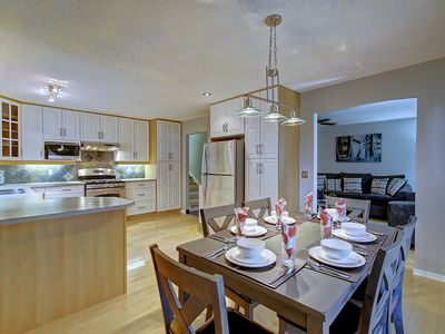 Photo for Minutes From Downtown- Space For Everybody in Open Concept Home- AC & Fireplace