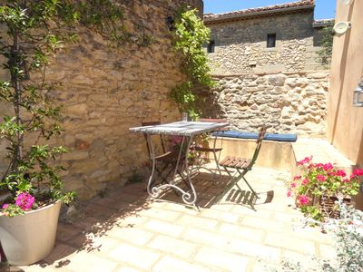 Photo for The Three terraces.Pretty Village House in St Laurent La Vernede - Uzes