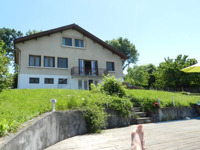 Photo for Charming house with pool, 5 bedrooms, sleeps 8, Lake Geneva view