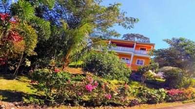 Photo for Family-friendly apartment with sea and tropical garden view