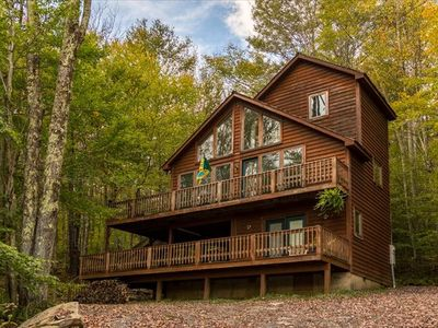 Photo for Private Romantic Getaway, Tucked in the woods! Private Hot Tub!