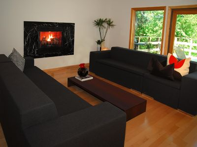 Photo for Modern Ski Chalet, Movie room, close to Skiing Hunter Windham SKI Mountains