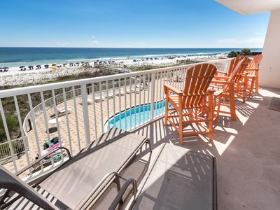 Photo for Summer Place 302: BEACH FRONT condo with UNFORGETTABLE VIEWS & A GREAT LAYOUT