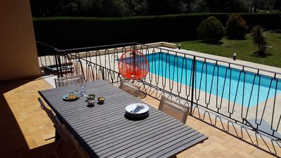 Photo for Nice villa in Sanary with pool and large garden, 200 m from the beach