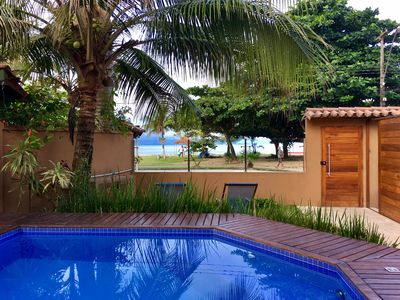 Photo for Front of the beach, 3 suites, Pool, WiFi, barbecue, hi Tv, air cond