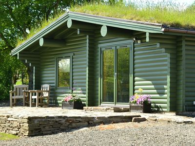 Photo for Beautiful secluded self-catering log cabin situated in it's own private grounds.