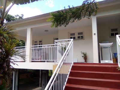 Photo for 3-room holiday flat with 2 separate bedrooms on the island of flowers Martinique