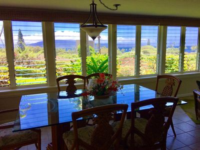 Dining Area, great views of Lanai and perfect sunset location.