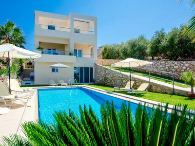Photo for Uniquely located villa with 3 bedrooms, private pool, free Wi-Fi, sea views