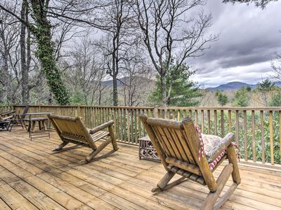 Photo for 5-Acre Lake Toxaway Mountain Cabin w/Fire Pit