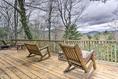 Enjoy beautiful Lake Toxaway from this 4-bedroom, 4-bath vacation rental house.