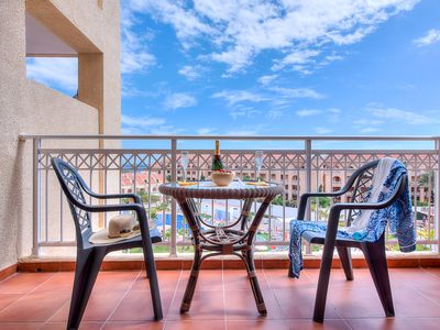 Photo for LOVELY 1 BEDROOMED + 2 FLOORS + 2 TERRACES APARTMENT IN COMPOSTELA BEACH