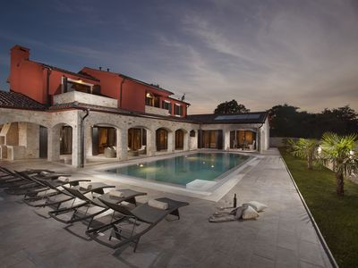 Photo for Luxury Villa Monaco - property with private pool, garden and animals - near Pula