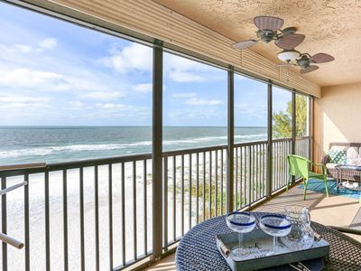 Photo for Top Floor Beachfront in Great Location! Pool, Hot Tub, Wi-Fi, Great Balcony Views-603 Sandcastle III