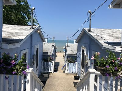 Photo for Charming newly renovated beachfront studio cottage
