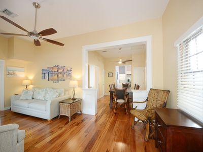 Photo for Renovated home w/yard, porch & shared pool, one block from Duval Street -dogs OK