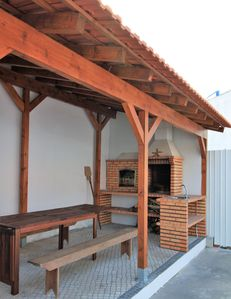 Porch, barbecue and wood oven