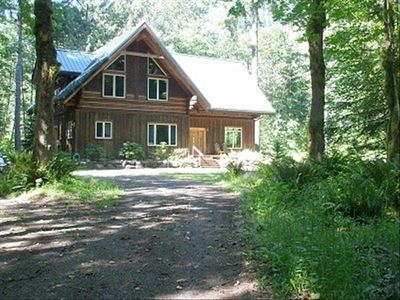 Front of cabin as you drive in.  Extra parking to left, lawn area to right.