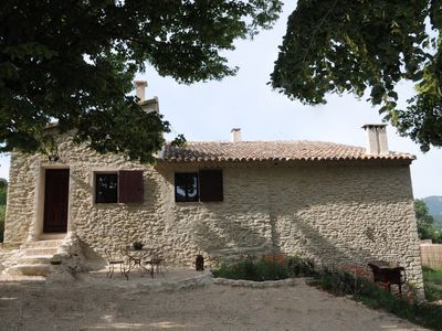 Photo for Provence Ventoux eclectic 18th century farmhouse near river with pool