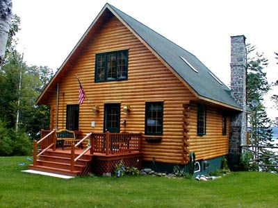 Photo for Mainely Home Log Cabin:  Deluxe Cabin on Bay of Fundy