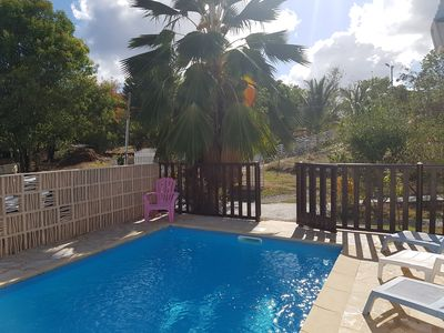 Photo for Quiet house with garden, swimming pool, near beaches and shops