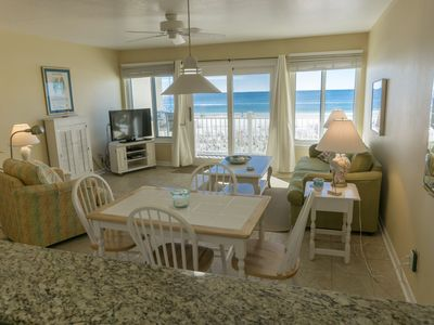 Photo for Directly on the beach Tiki Beach unit 22 WOW,