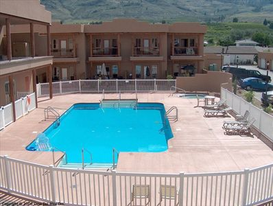 Outdoor Pool and Hot Tub Area