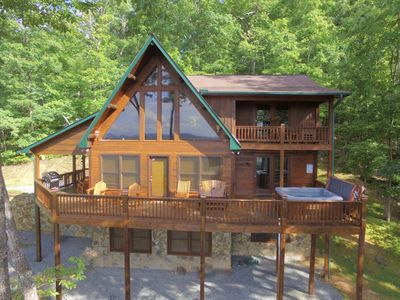 Photo for Game Room & Hot tub - Sleeps 10 w/ INCREDIBLE Views! ** Two Master Suites !! **
