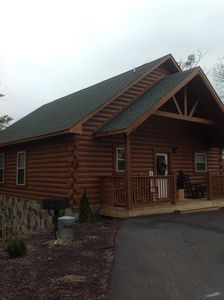Photo for Cabin Sleeps 8 w/ 2 King Suites, Theater/Hot Tub/Pool Table, Small Dog Friendly!