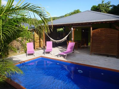 Photo for Kaz a Coco, Green Villa with Private Pool, 2 Bedrooms, 2 Bathrooms