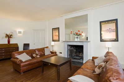 Sitting Room with bow end and curved doors