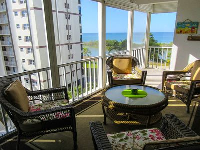 Photo for Gorgeous Island Reef Ocean-Front 2B/2B Condo, Heated Pool, White Sandy Beach!