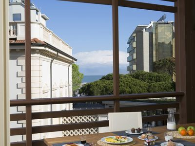 Photo for Embassy Aparthotel - Three-room apartment with sea view for 4/6 people
