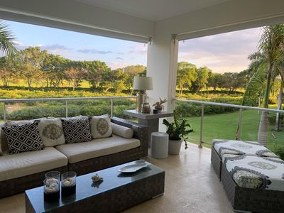 Photo for Amazing 2-bedroom luxury apartment with golf view in Puntacana Resort & Club