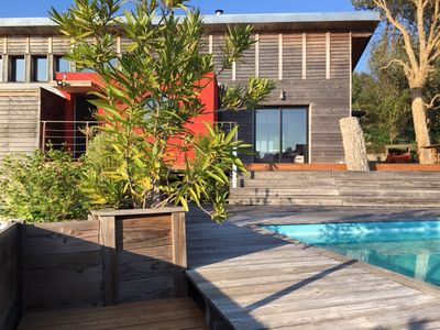 Photo for Wooden house architect South Heath - Wooden modern beach home 2km