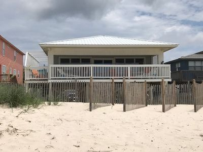 Photo for 5 Bedroom, 3 Bath Gulf Front Beautiful Home with amazing gulf views and huge covered deck- Beale Street Bungalow