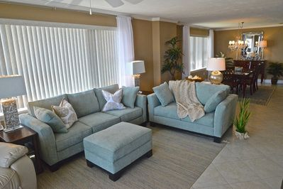 Spacious and comfortable seating area.