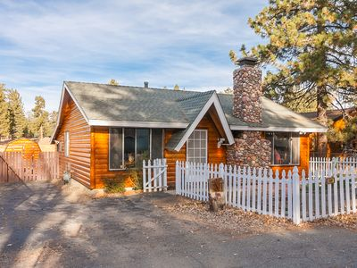 Photo for Beautiful 3 Bedroom and 2 Bathroom Log Cabin. Close to Village. View of Lake. Spa!